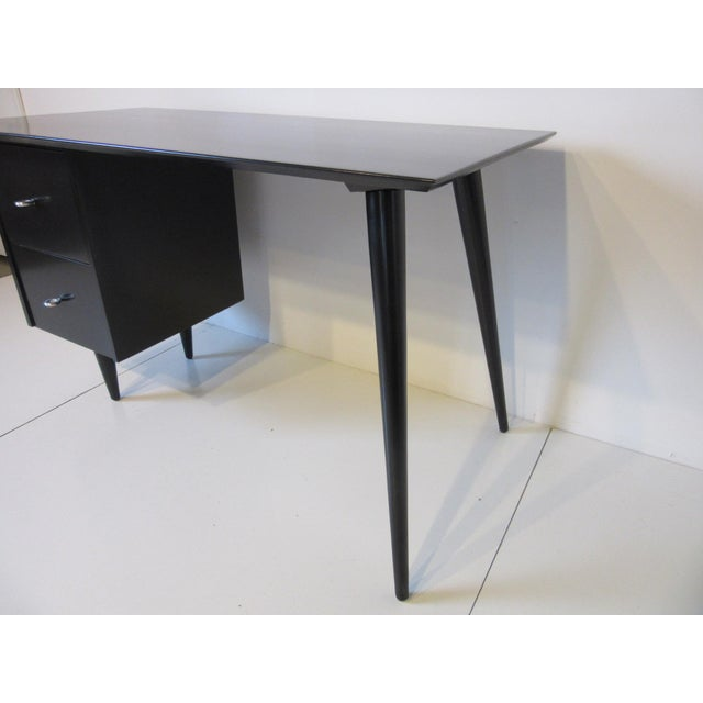 Planner Group Paul McCobb Black Maple Desk W/ Chair From the Planner Group For Sale - Image 4 of 10