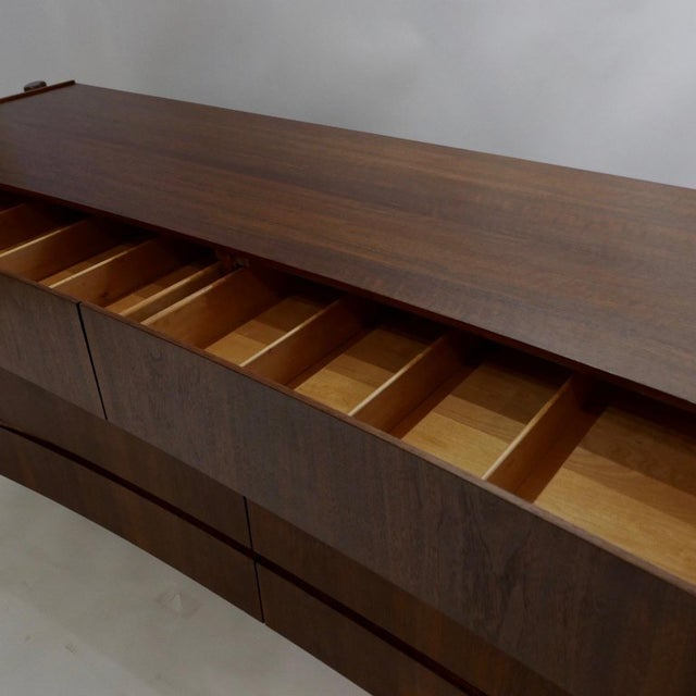 William Hinn Scandinavian Mid-Century Modern Stilted Curved Chest or Dresser For Sale - Image 12 of 13