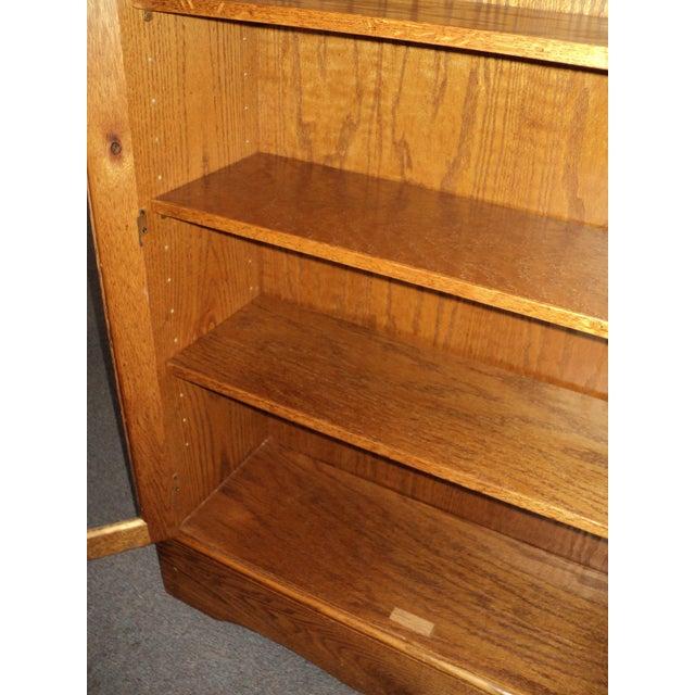 Custom Built Two Door Solid Oak Bookcase For Sale - Image 4 of 7