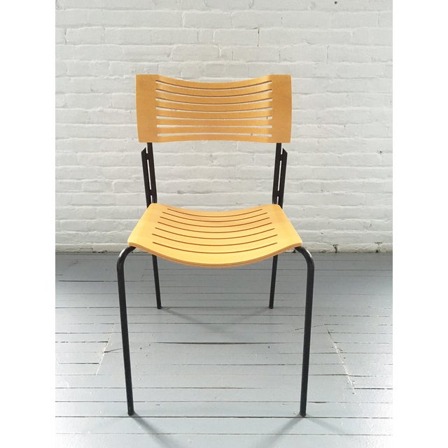 Fritz Hansen Plywood/Metal Chair by Knoll - Image 3 of 7