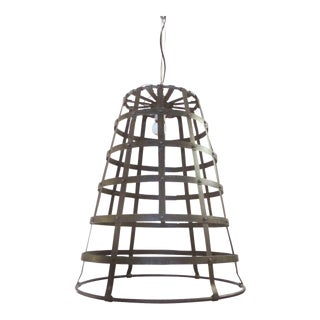 Vintage Metal Bucket Pendant Light