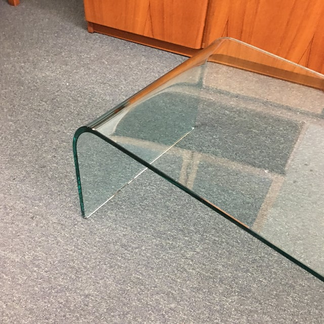 Vintage Waterfall Glass Coffee Table - Image 7 of 7