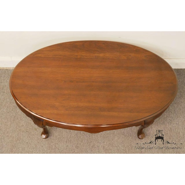 Late 20th Century late 20th Century Vintage Hammary Furniture Solid Cherry Queen Anne Coffee Table For Sale - Image 5 of 10