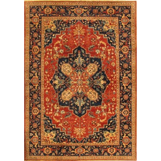Pasargad Nomad Art Serapi Area Rug - 9′10″ × 10′2″ For Sale
