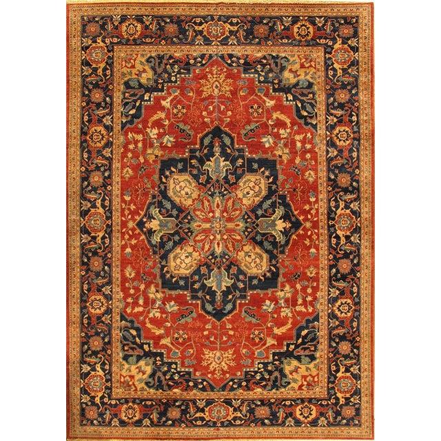 Pasargad Nomad Art Serapi Area Rug - 9′10″ × 10′2″ For Sale