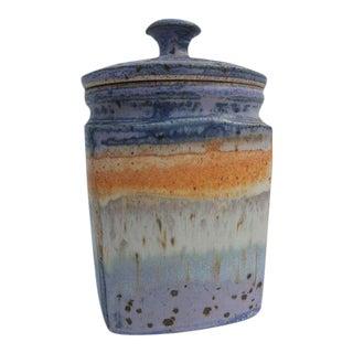 Vintage Pamtt Handmade Lidded Jar