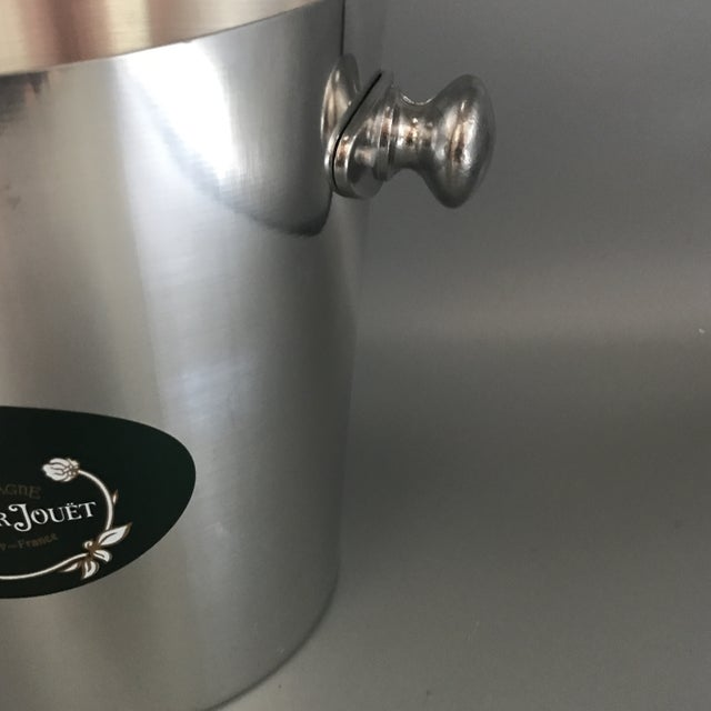 Vintage Perrier Jouet Epernay-France Polished Aluminum Presentation Champagne Bucket For Sale - Image 11 of 13
