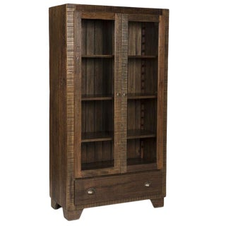 Rustic Modern Reclaimed Wood China Display Cabinet/Bookcase
