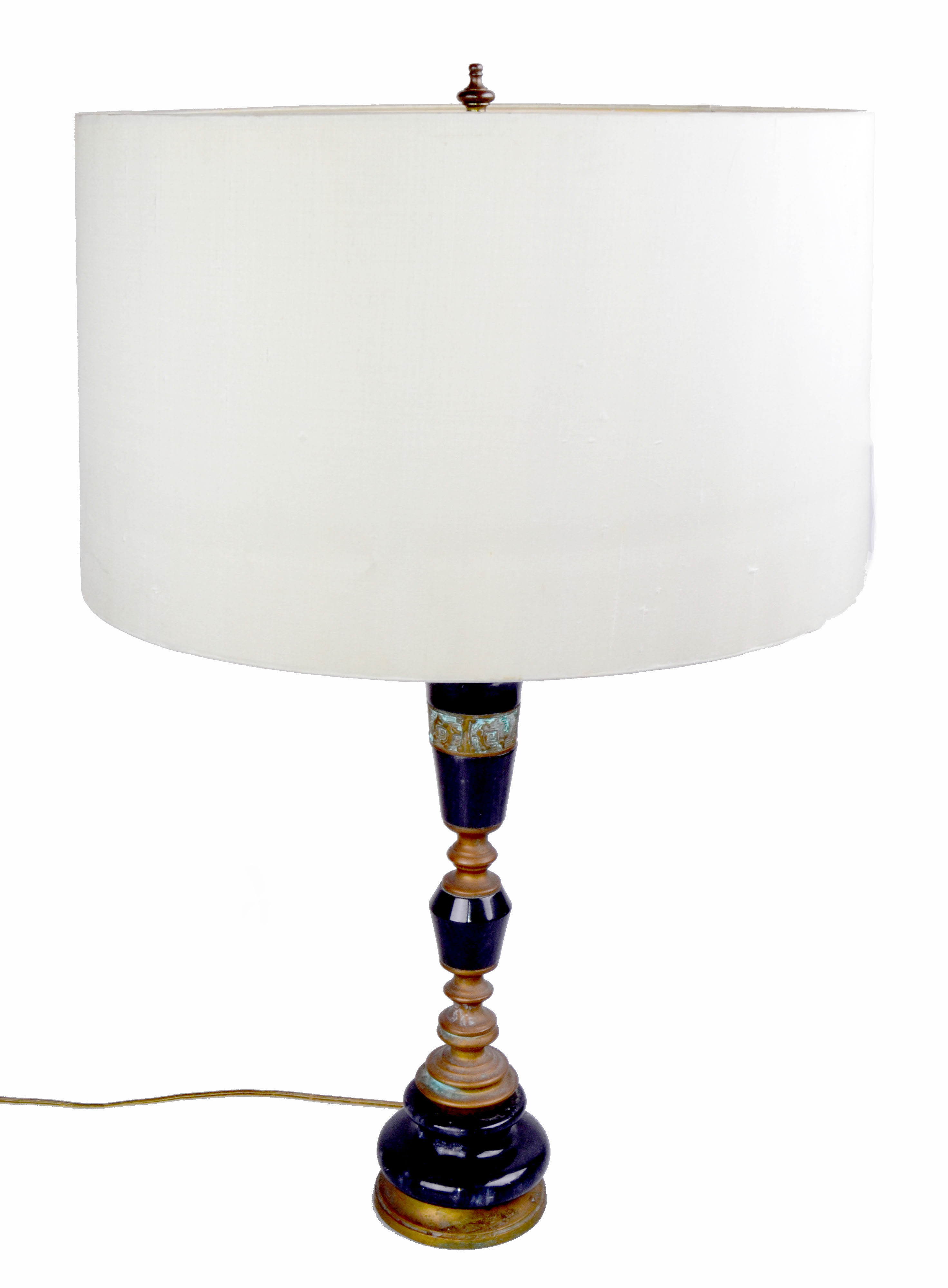 Bronze U0026 Black Marble Table Lamp   Image 2 Of 10