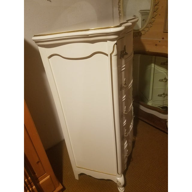 Bassett Furniture Vintage Bassett French Provincial Chest of Drawers For Sale - Image 4 of 6
