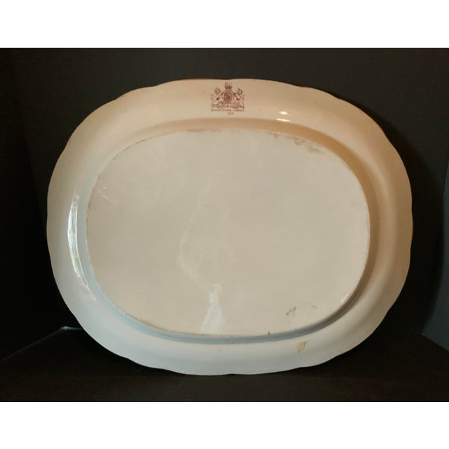 Copper Antique Ironstone China Hand Painted Platter For Sale - Image 8 of 9