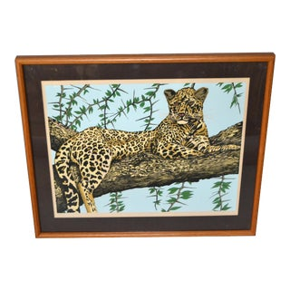 Original Lithograph 'Cheetah' Signed by Artist Mac Couley For Sale