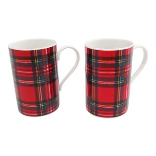 Royal Stewart Tartan Mugs - A Pair