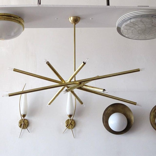 Contemporary Raw Brass & Spiral Chandelier For Sale - Image 3 of 11