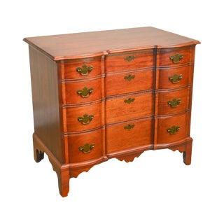 Williams-Kimp Vintage 1930s Mahogany Chippendale Frothingham Style Block Front Chest