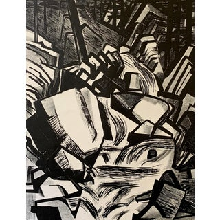 Mid-Century Lithograph by Mary Finley Fry For Sale