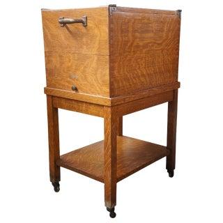 Antique Globe Wernicke Quartersawn Oak Filing Cabinet For Sale