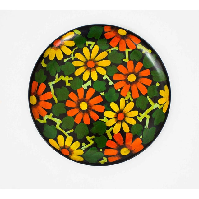 1960s 1960s Japanese Hand Painted Tray For Sale - Image 5 of 5