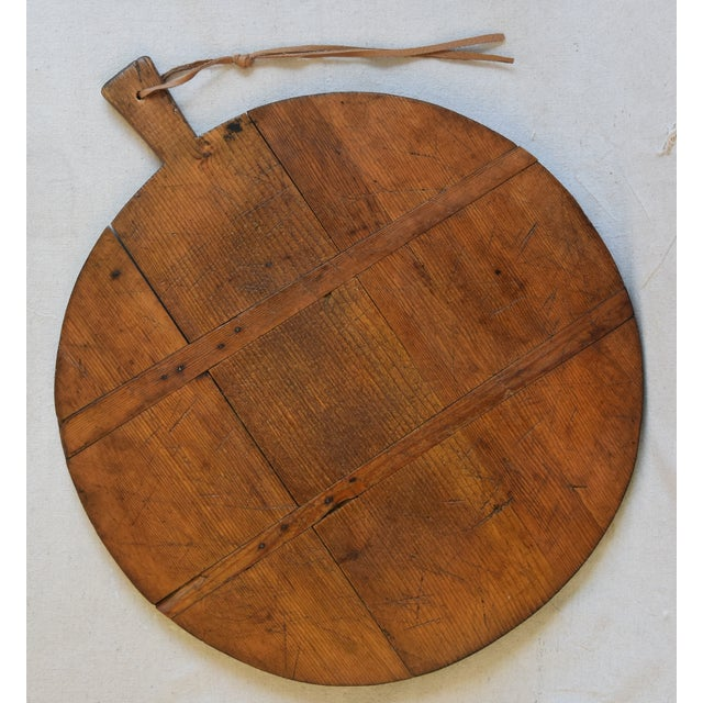 Abstract Antique French Pine Charcuterie Bread Cheese Serving Tray Board For Sale - Image 3 of 9