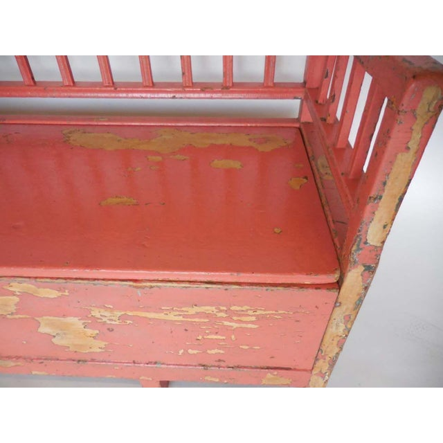 19th Century Painted Swedish Bench/Daybed - Image 4 of 9