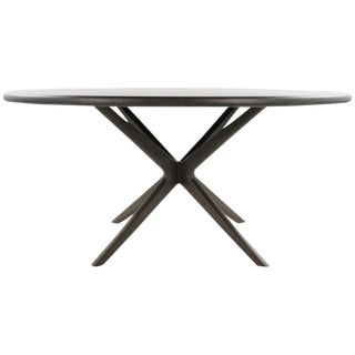 Stamford Modern Walnut Gazelle Collection Dining Table For Sale