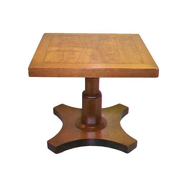 Baker Single Pedestal End Table - Image 1 of 4