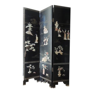 Asian Screen 6 Panel Room Divider Dressing Screen For Sale