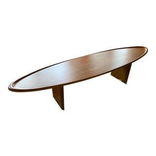 Vintage T H Robsjohn Gibbings Surfboard Coffee Table MCM For Sale