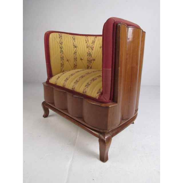 Art Deco Vintage Barrel Back Italian Side Chairs - A Pair For Sale - Image 3 of 11