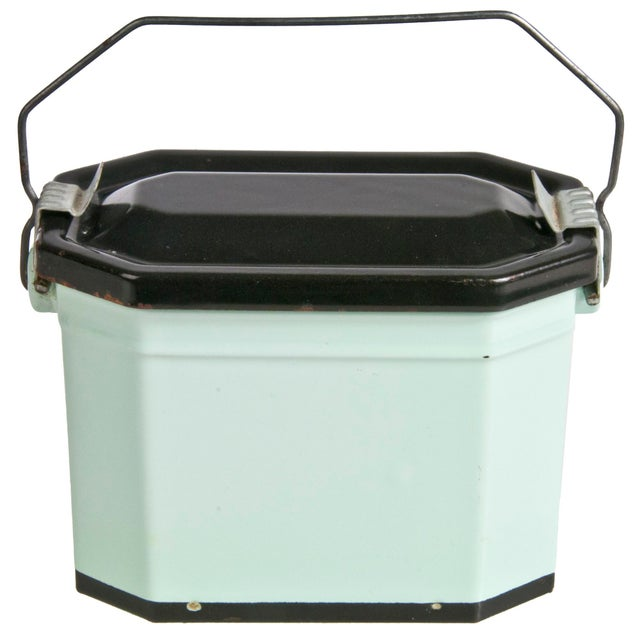 Vintage French Enamel Lunch Pail - Image 1 of 4