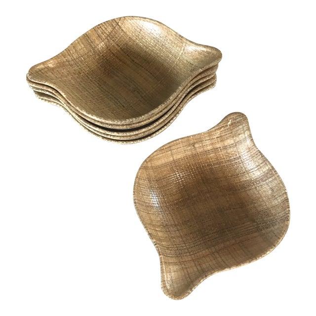 1960s Mid-Century Modern Abaca Grainwear Bowls - Set of Six For Sale