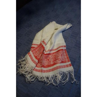 Vintage Turkey Fringed Red Hand Towels - a Pair Preview