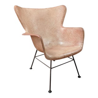 Lawrence Peabody for Selig Mid-Century Wingback Fiberglass Chair