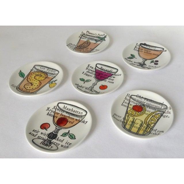 Piero Fornasetti Piero Fornasetti Drinks Coasters - Set of 6 For Sale - Image 4 of 11
