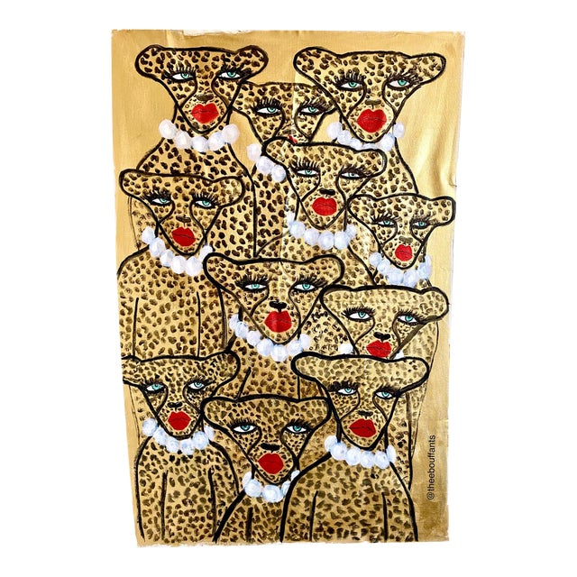 Glam Cheetah Army Original Painting For Sale