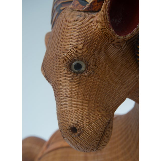 Asian 1960s Handwoven Straw Ram Figure For Sale - Image 3 of 13