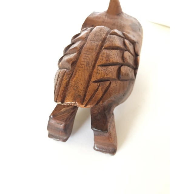 Brown Vintage Owl Whistle, Hand Carved Wood For Sale - Image 8 of 8