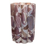 Image of Stories of Italy Nougat Amethyst Bucket Vase For Sale