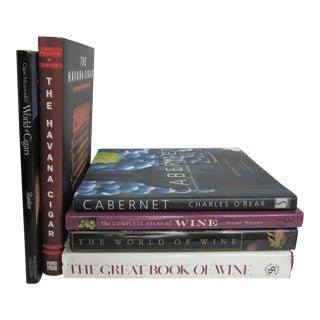 Wine & Cigar Books-6 Pieces