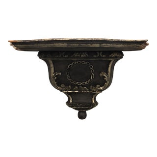 Renaissance Revival William Switzer Charles Pollock Designer Venetian Wall Bracket Shelf For Sale