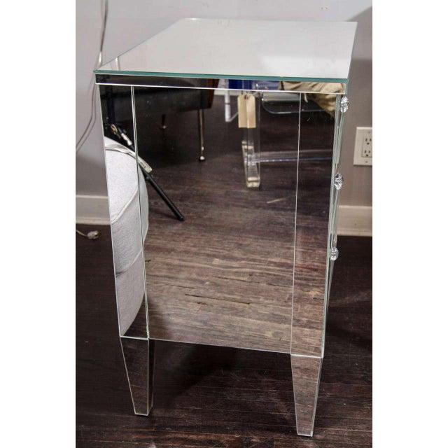 2010s Beautiful Custom Mirrored Nightstand For Sale - Image 5 of 6