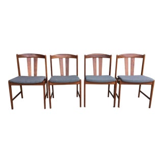 1950s Scandinavian Modern Folke Ohlsson for Dux Teak Dining Chairs - Set of 4 For Sale