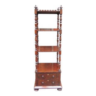 Early 19th C English Regency Mahogany Library Stand For Sale