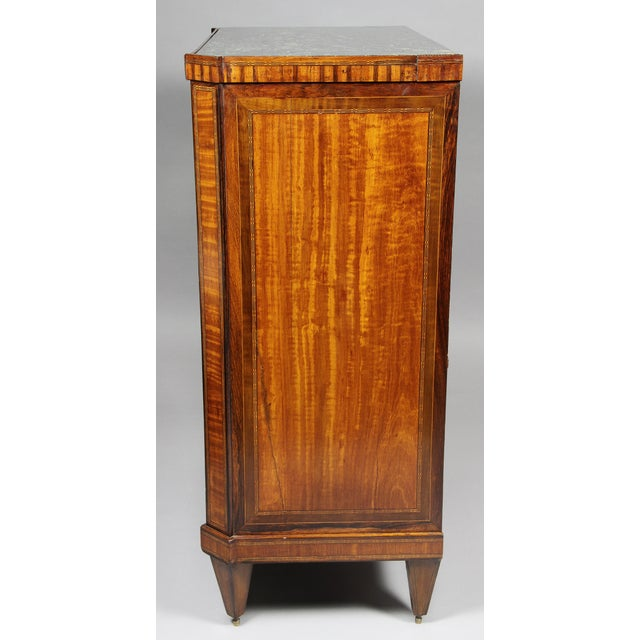 Dutch Neoclassical Satinwood and Japanned Cabinet For Sale - Image 10 of 13