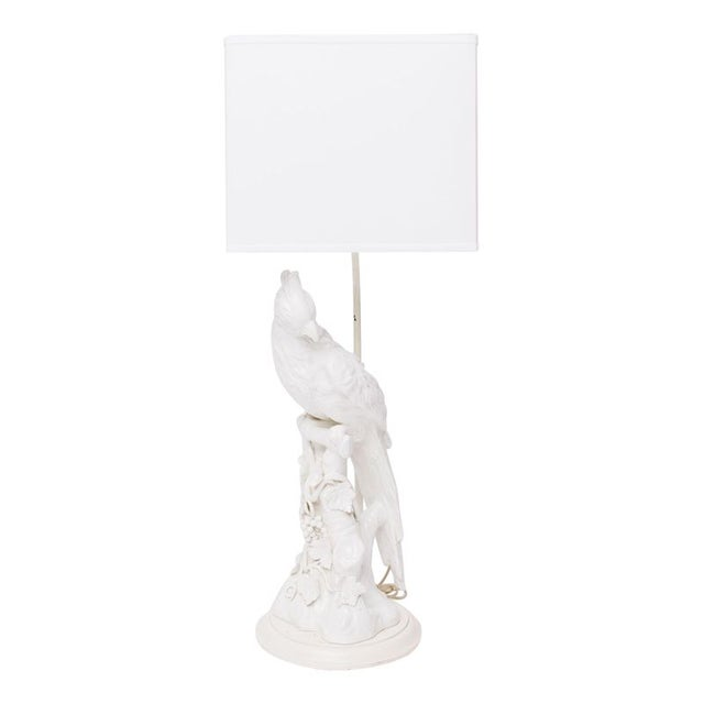 White Parrot Table Lamp For Sale