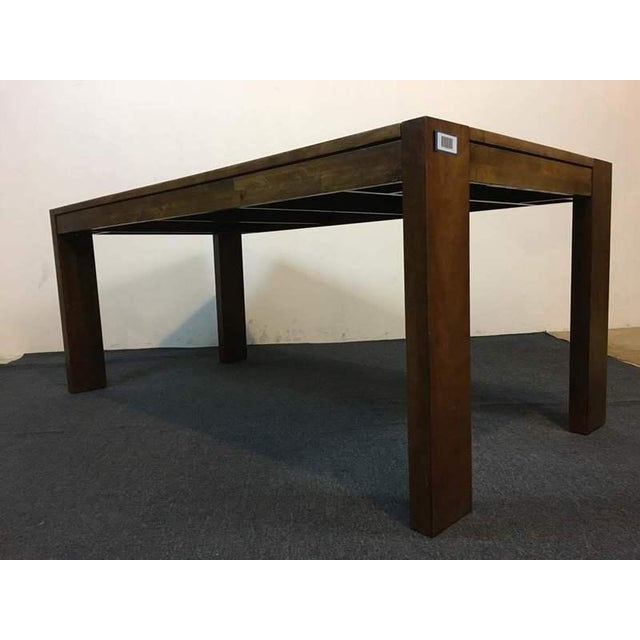 West Elm Contemporary Rustic Oak Dining Table - Image 5 of 7