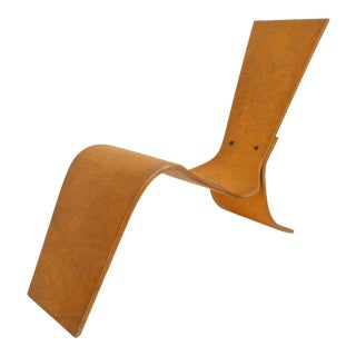 1990s Moulded Plywood Lounge Chair by Lauren Page For Sale