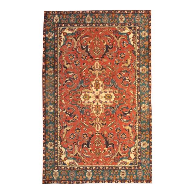 "Pasargad Antique Persian Tabriz Lamb's Wool Rug - 8'3"" X 10'11"" For Sale"