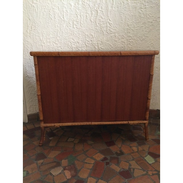 Vintage 1960s Painted Bamboo Cabinet For Sale - Image 4 of 9
