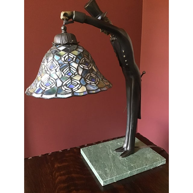 Metal Vintage Dale Tiffany Desk Lamp With Shade For Sale - Image 7 of 9